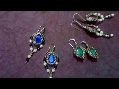 Серьги с кристаллами swarovski/ Королевский цвет