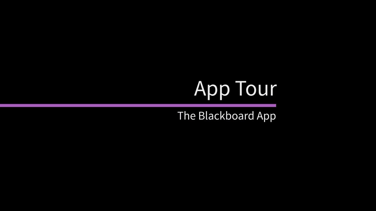 the blackboard app tour youtube