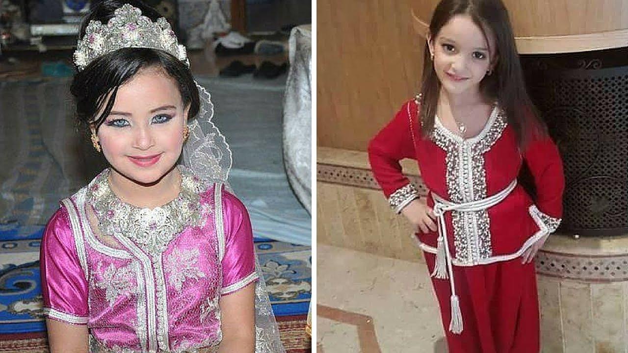 9f642d4da7655 Top Moroccan Caftan For kids 2017 مجموعة مميزة من أجمل قفاطين مغربية للاطفال  اتمني ان تعجبكم