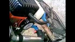 Велосипед с мотором (первое видео-качество на 3)(Велосипед с мотором от триммера., 2012-08-09T14:11:54.000Z)