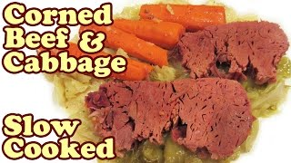How To Make Corned Beef And Cabbage Recipe Slow Cooker Crock Pot Recipes St Patrick Day Food Jazevox