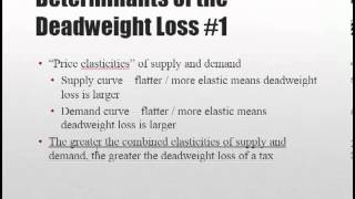 Taxes and Subsidies Part 5 Deadweight Loss and the Laffer Curve