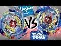 HASBRO VS TAKARA TOMY: Genesis Valtryek V3 VS God Valkyrie .6V.Rb - Beyblade Burst God/Evolution