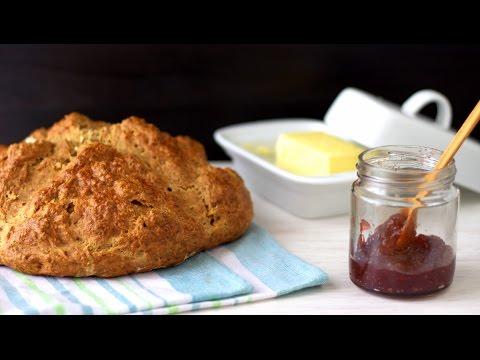 How to make Traditional Irish Brown Soda Bread Recipe | HappyFoods Tube