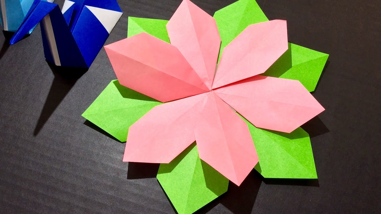Origami Paper Craft Flower Tutorial 5 Minute Quick Crafts Youtube