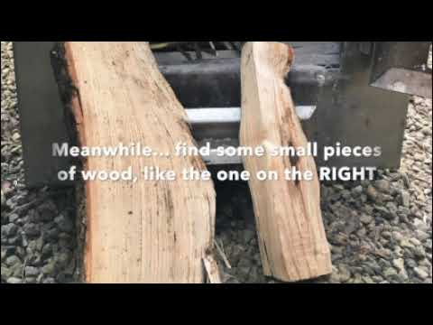 How to light a small wood fired hot tub