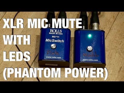 XLR Mic Mute Switch with LED (phantom powered)