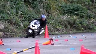 ZZR1400 2013-10-27 瀬女練習会 バイクジムカーナ 石川瀬女高原