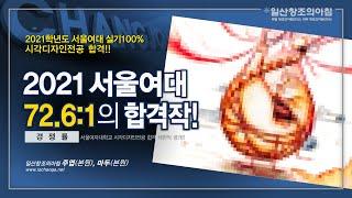 경쟁률 72.6:1, 서울여자대학교 시각디자인전공 합격…