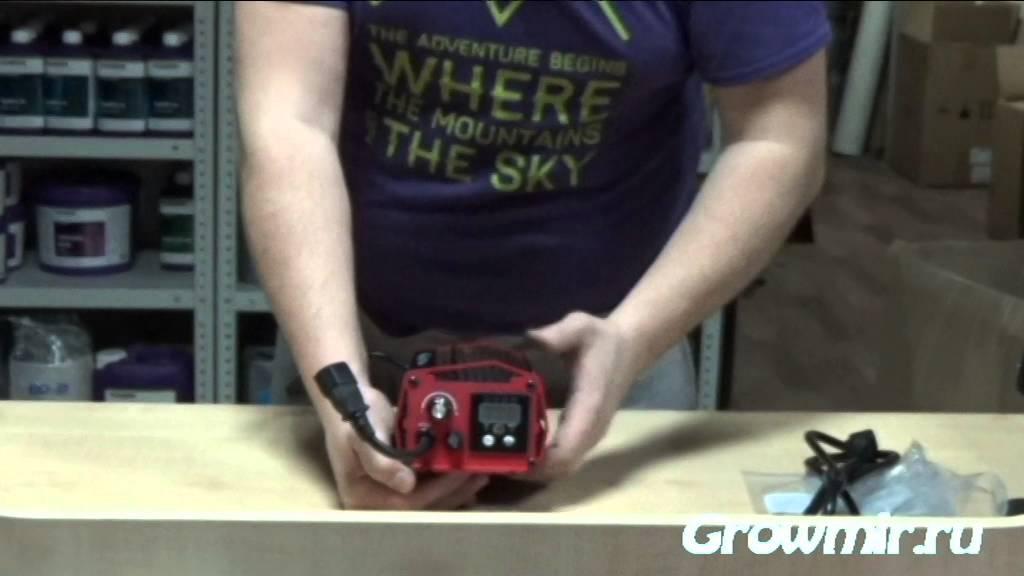 Как подключить лампу ДНАТ (натриевая лампа) - YouTube