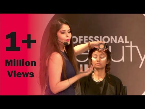 Demo Performance on Make-up by Team Make-Up Studio by Avleen Bansal at PB Delhi 2017