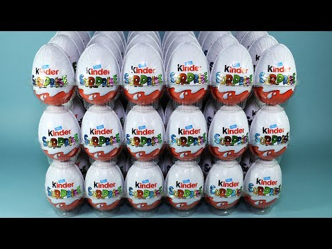 72 Surprise Eggs Kinder Surprise Smurfs The Lost Village Sprinty Mixart and More
