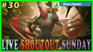 "NEW SKIN ""FLYTRAP"" on FORTNITE - Live Shoutout Sunday #30 // 186 SOLO WINS // 3,236+ KILLS"
