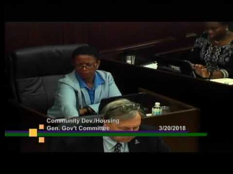Winston-Salem Community Development Housing General Government Committee  on March 20, 2018