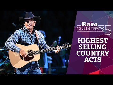 Highest Selling Country Acts | Rare Country's 5