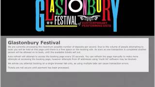 Getting Glastonbury tickets iPad Glastonbury Coach Resale 2017 The Refreshinator