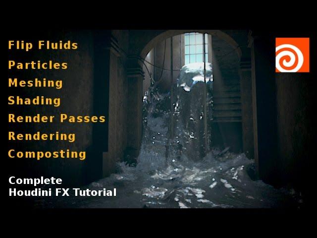 Houdini Flip Simulation – Hallway Flood Scene Tutorial | Rajiv Sharma