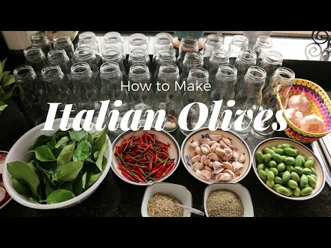 How To Cure Olives- Traditional Italian Recipe