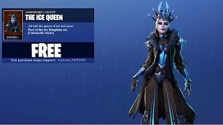 New ICE QUEEN Skin Gameplay in Fortnite..