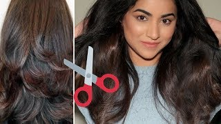 HOW TO CUT YOUR HAIR AT HOME IN 1 SIMPLE STEP | DIY Soft Layers