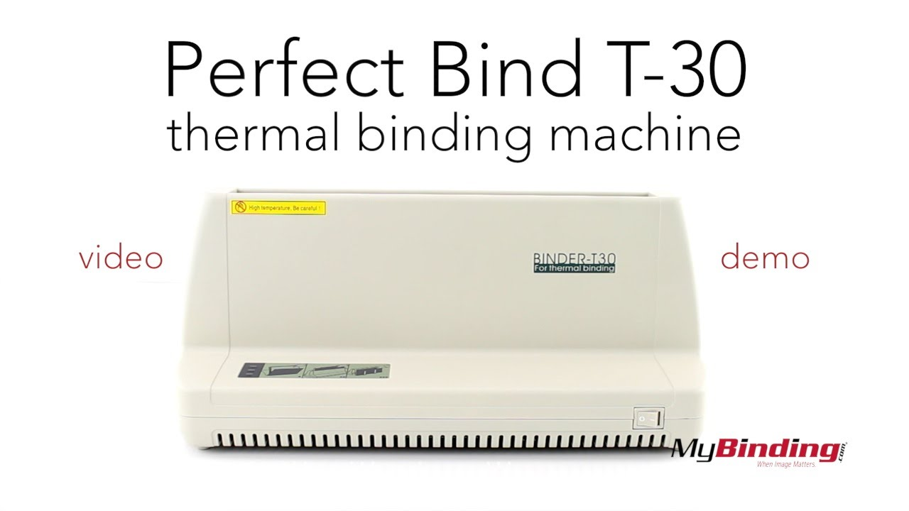 1 Max spine width Tamerica T-30 Heat Binder Thermal Binding Machine Built-in cooling rack for increased performance Easy operation with buzzer /& indicator light