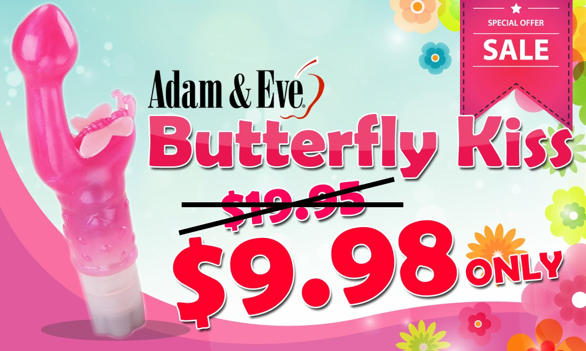 Adam and eve butterfly kiss