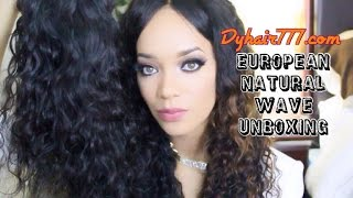 unboxing review   www dyhair777 com european natural wave