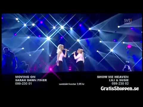Lili & Susie - Show Me Heaven / Melodifestivalen 2009 [16:9]