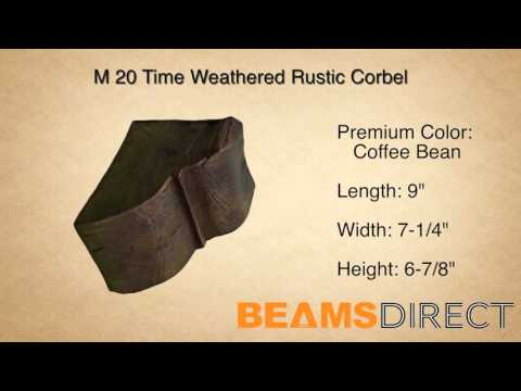 M 20 Time Weathered Rustic Faux Wood Corbel Coffee Bean