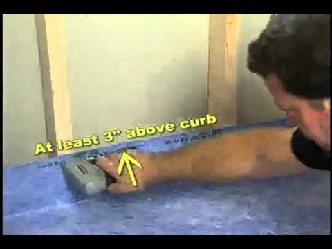 tile shower drain installation instructions linear noble seal liner quick pitch kerdi video concrete