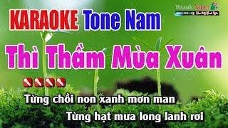 Thì Thầm Mùa Xuân Karaoke | Tone Nam - Nhạc Sống Thanh Ngân