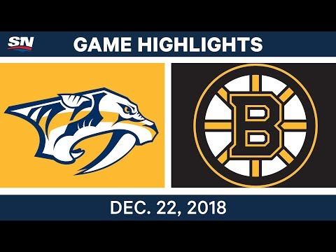 NHL Highlights | Predators vs. Bruins - Dec 22, 2018