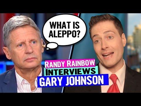 Randy Rainbow Interviews Gary Johnson #WhatIsAleppo