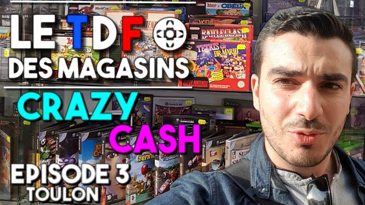le tour de france des magasins de jeux vid o 3 crazy cash toulon youtube. Black Bedroom Furniture Sets. Home Design Ideas