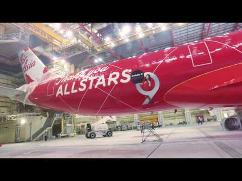 #AirAsiaXTurns9 - The making of the AirAsia X's 9th Anniversary livery