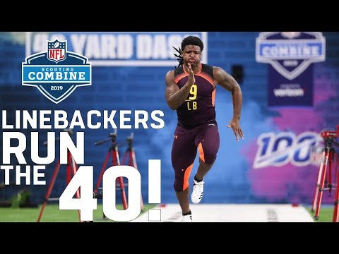 Linebackers Run The 40-Yard Dash | 2019 NFL Scouting Combine Highlights