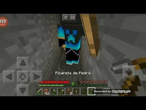 Jurandir João Lucas fez uma plantação no Minecraft