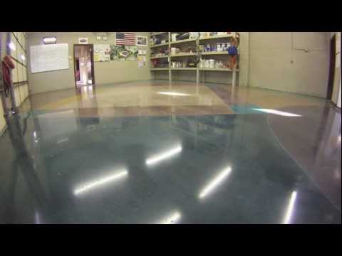 How to stain polish concrete floors youtube for How to shine cement floor