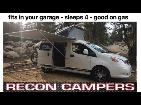 Fits in your garage, sleeps 4, gas saver : Recon Campers - SEMA 2017
