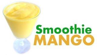 How To Make A Mango Smoothie - Tropical Yellow Mangoes Milkshake Recipes - Milkshakes Recipe Jazevox