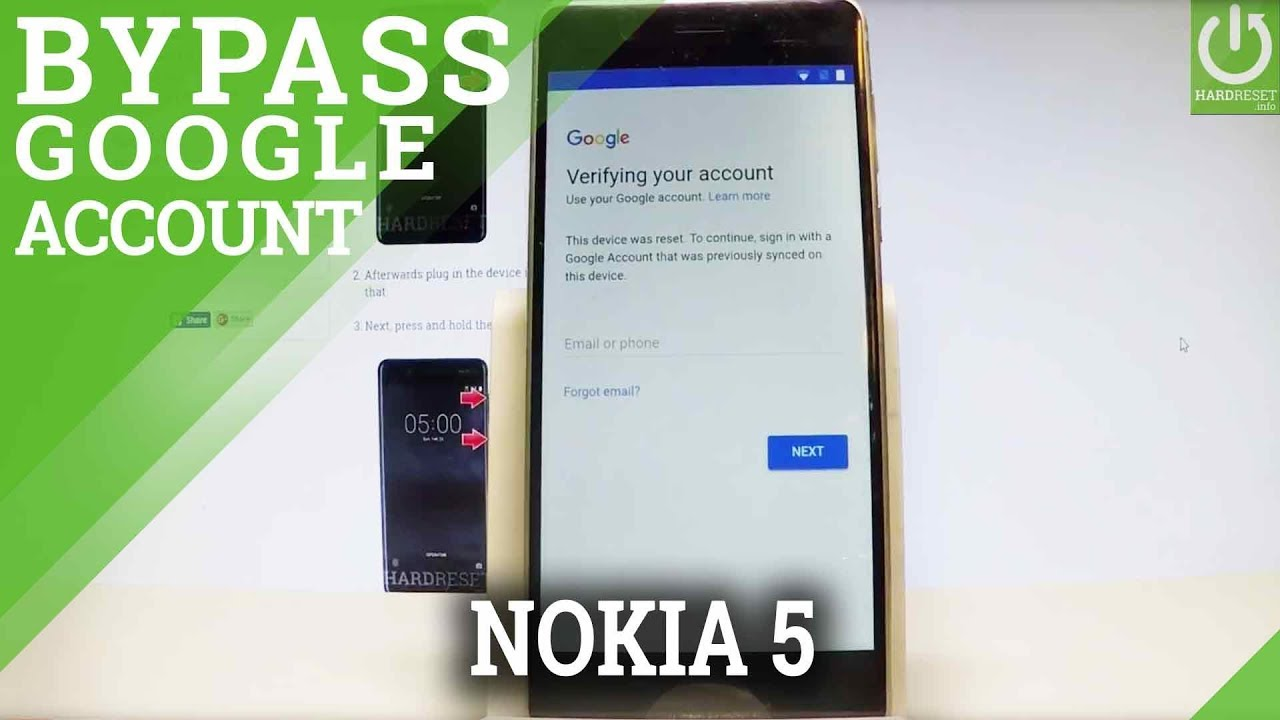 NOKIA 5 Bypass Google Verification / UNLOCK FRP / Newest Security Patch