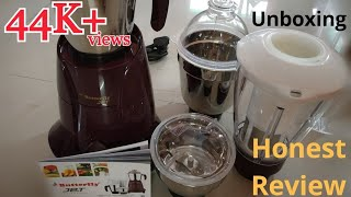 Butterfly Jet 750-Watt Mixer Grinder with 4 Jars Unboxing Demo & Review