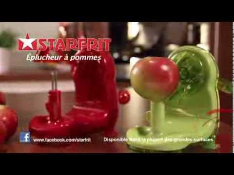 starfrit plucheur de pomme apple peeler francais youtube. Black Bedroom Furniture Sets. Home Design Ideas