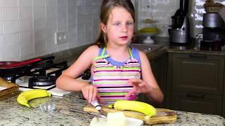 Веселая Готовка - Бананы Жареные В Карамели С Мороженым | Hello Katty
