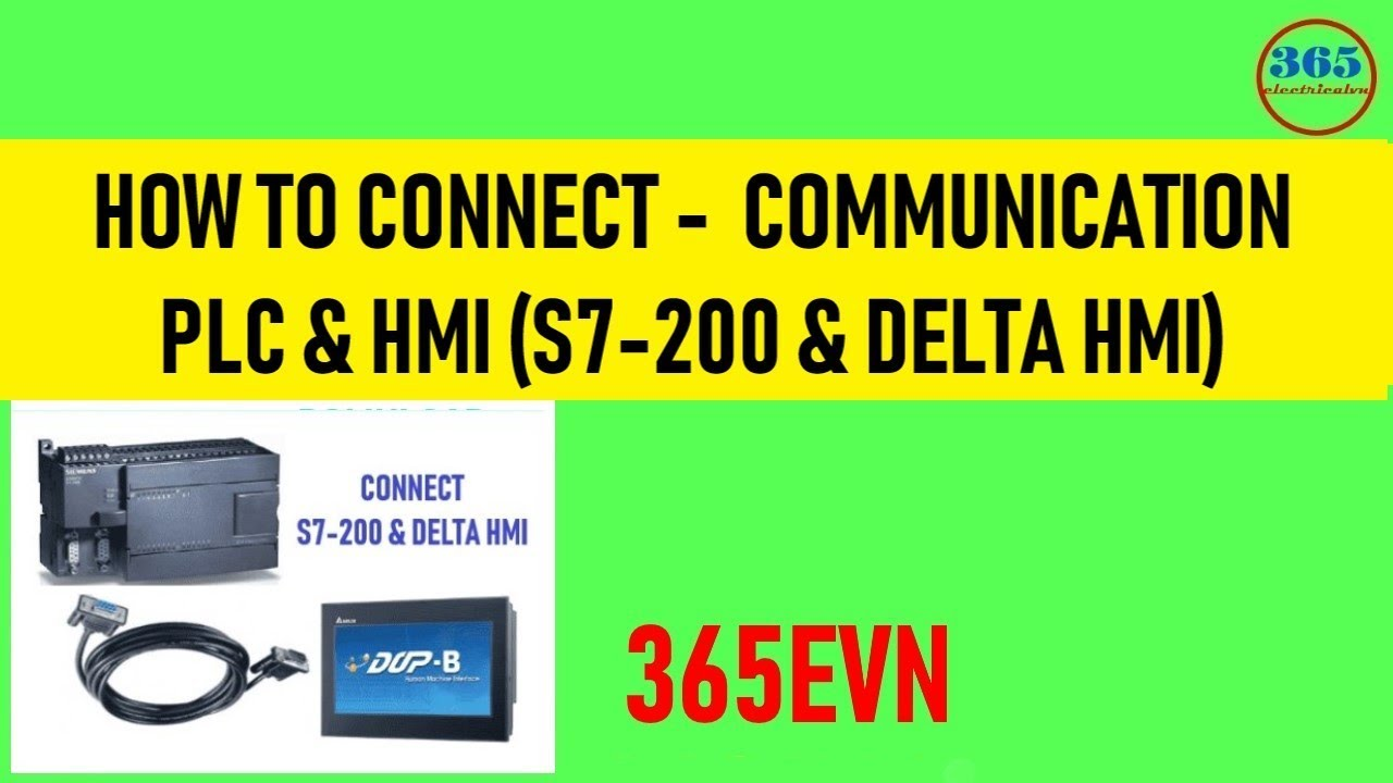 How to Connect PLC and HMI  S7-200 & Delta DOP-B HMI