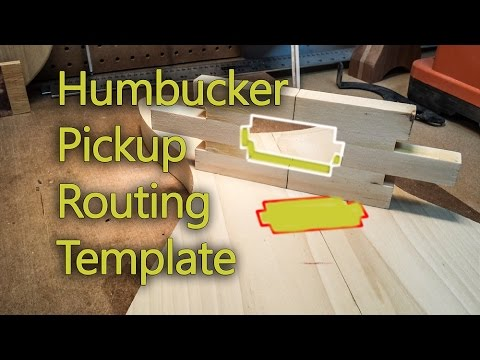 How To Make A Humbucker Router Template - YouTube