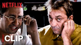 Munna Bhai Funny Exam Cheating Scene | Sanjay Dutt | Munna Bhai M.B.B.S. | Netflix India