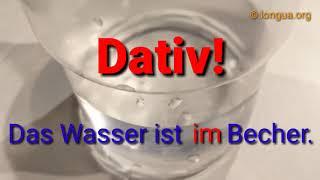 Wo oder wohin: Präposition in - in die Tasse, in der Tasse - German grammar - Deutsche Grammatik