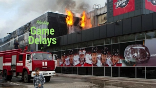 Hockey Game Delays | ARENA ON FIRE?!?!?