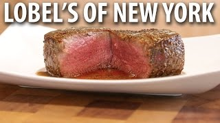 Pan Seared Filet Mignon & Bacon Merlot Pan Sauce - Lobel's Prime Filet